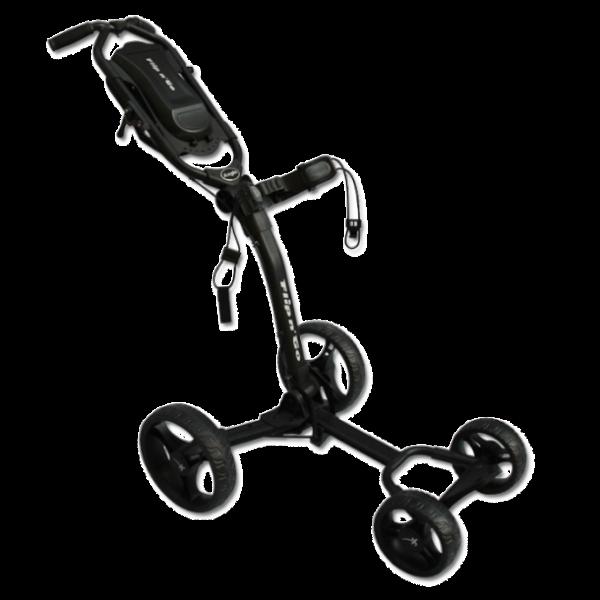Axglo Flip N' Go 4-hjulet Golfvogn - Sort