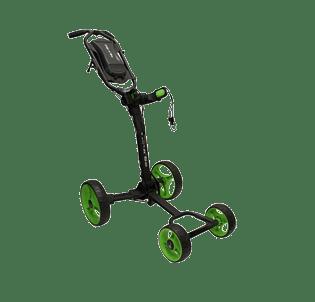 Axglo Flip N' Go 4-hjulet Golfvogn - Sort/Lime