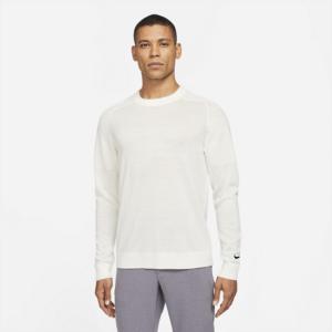 Maskinstrikket Tiger Woods-golfsweater til mænd - Hvid