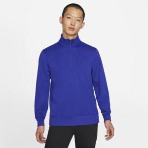 Nike Dri-FIT Player-golfoverdel med 1/2 lynlås til mænd - Blå