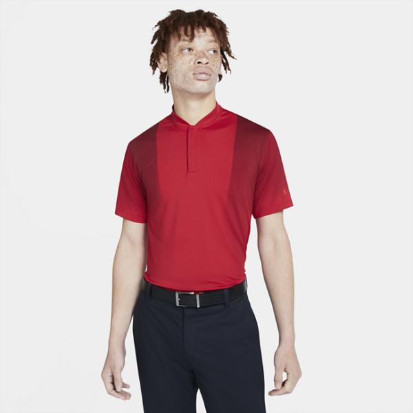 Nike Dri-FIT Tiger Woods-golfpolotrøje med print til mænd - Rød