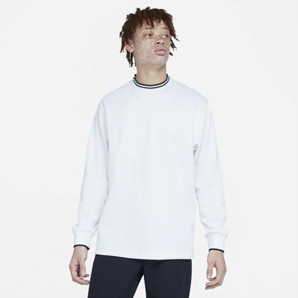 Nike Dri-FIT-golfcrewtrøje til mænd - Hvid