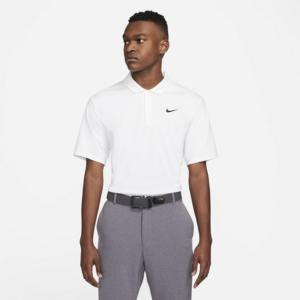 Nike Dri-FIT-golfpolo til mænd - Hvid