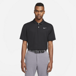Nike Dri-FIT-golfpolo til mænd - Sort