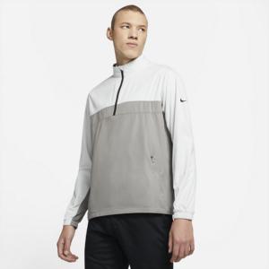 Nike Shield Victory-golfjakke med lynlås i halv længde til mænd - Grå
