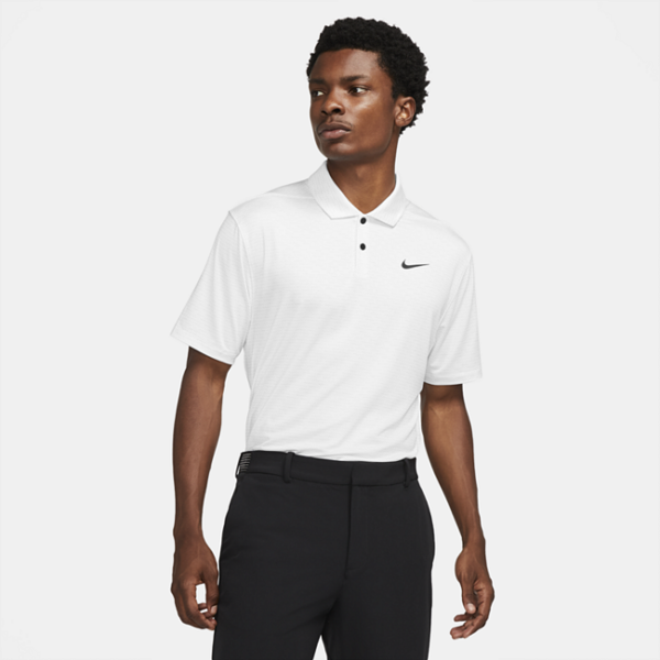 Stribet Nike Dri-FIT Vapor-golfpolo til mænd - Grå