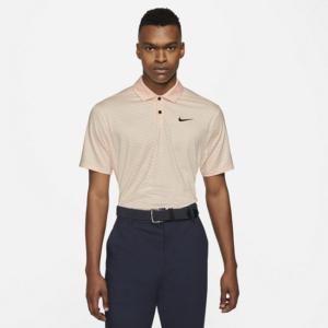 Stribet Nike Dri-FIT Vapor-golfpolo til mænd - Orange