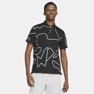 The Nike Polo med slank pasform til mænd - Sort