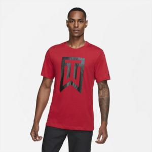Tiger Woods-golf-T-shirt med logo til mænd - Rød