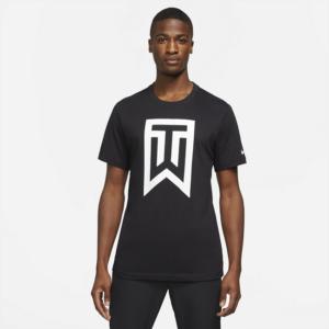 Tiger Woods-golf-T-shirt med logo til mænd - Sort