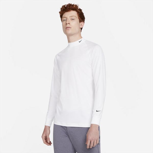 Langærmet Nike Dri-FIT UV Vapor-golfoverdel til mænd - Hvid