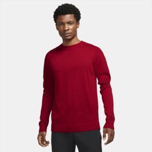 Maskinstrikket Tiger Woods-golfsweater til mænd - Rød