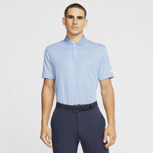 Nike Dri-FIT Victory-stribet golfpolo til mænd - Blå