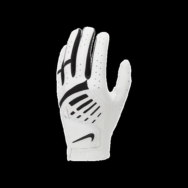 Nike Dura Feel 9-golfhandske (venstre, almindelig) - Hvid