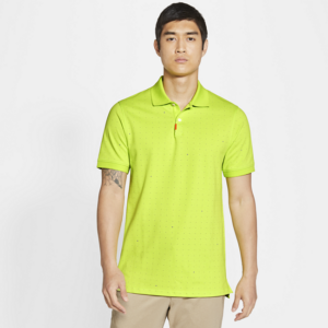 Printed Nike Polo med slank pasform til mænd - Grøn