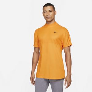 Kortærmet Nike Dri-FIT Tiger Woods-golftrøje med høj hals til mænd - Orange