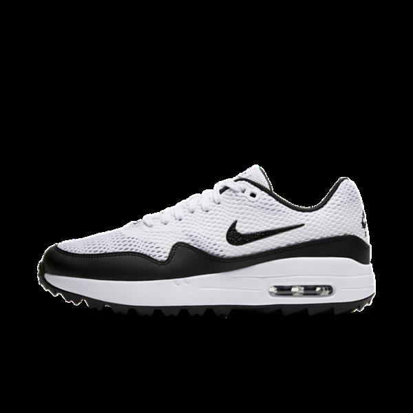 Nike Air Max 1 G-golfsko til kvinder - Hvid