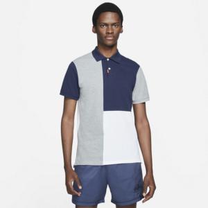 Nike Polo-polo med slank pasform og farveblokke til mænd - Blå